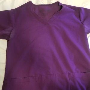 Purple Grey's Anatomy Scrubs. Medium.